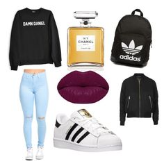 Untitled #3 by hannah-s-b on Polyvore featuring polyvore, moda, style, Topshop, adidas, adidas Originals, Winky Lux, Chanel, fashion and clothing