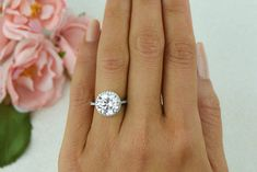 Gorgeous, financially responsible option!  SALE 4.25 ctw Round Halo Wedding Ring Classic by TigerGemstones