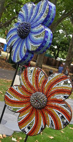 mosaic sculpture, via Flickr.