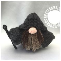 Wizard Gonk Free Crochet Pattern from Hooked On Patterns www.hookedonpatterns.com