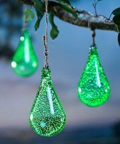 Look at this #zulilyfind! Glow in the Dark Teardrop Ornament #zulilyfinds