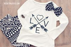 DIY Graphic Love Tee made with Cricut Explore -- The Crafting Chicks. #DesignSpaceStar Round 2