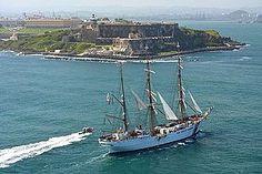 the 16th century Fort San Felipe del Morror in San Juan, Puerto Rico