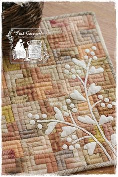 Pink Caramel: L Patch doll quilt, finished!