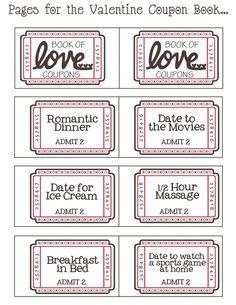 Love coupons    ♡~Happy Valentine's Day~♡