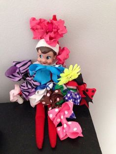 Elf on Shelf Bows! + TONS of Elf on the Shelf IDEAS!  EASY IDEAS!