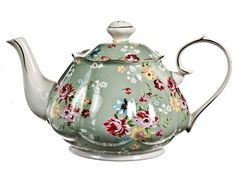 Gracie China Shabby Rose Porcelain 4-1/2-Cup Teapot