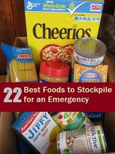 Food Storage: 22 Best Foods to Stockpile for an Emergency Emergency Food Storage, Emergency Food Supply, Emergency Preparedness Kit, Emergency Supplies, Survival Prepping, Survival Skills, Survival Supplies, Emergency Planning, Hurricane Preparedness Kit