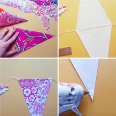 How to make oilcloth bunting - Poppy Haus tutorial