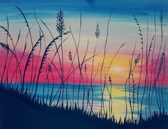 "July 2016 Featured Painting: ""Sunrise Seaside"" by Chicago artist Steffanie Mercier."
