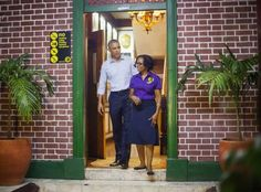 President Barack Obama at the Bob Marley Museum, 56 Hope Road, Kingston Jamaica 2015