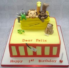 Dear Zoo cake - Cake by That Cake Lady