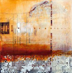 Pam nichols - encaustic abstract painting