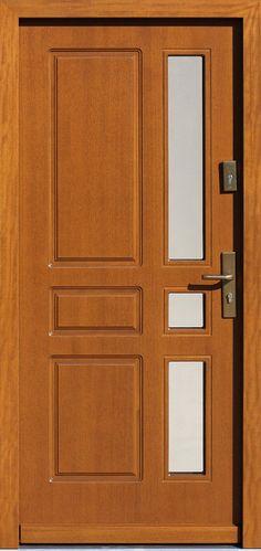 Drewniane wejściowe drzwi zewnętrzne do domu z katalogu modeli klasycznych wzór 598s6
