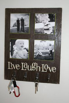 Useful and practical....key hook with family pictures