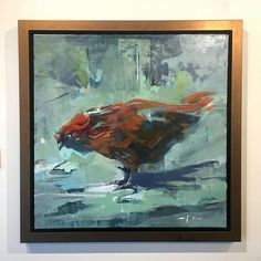 """Poulet Rouge / 20"""" x 20"""" / oil on linen   Available from the Saladino Gallery danny@saladinogallery.com"""