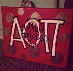 alpha omicron pi - aopi sorority canvas