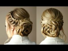 Braid Embellished Rosette Bun | Missy Sue - YouTube