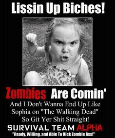 Love it i so belive the zombies are comming