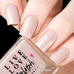 Live Love Polish Cashmere is a light nude creme polish. This nail polish is designed and made in New York City! Application: Opaque in coats. Texture: This Pink Polish, Nail Polish, Neutral Nails, Live Love, You Gave Up, How To Do Yoga, Teeth Whitening, Wedding Nails