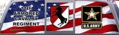 Army 11th Armored Cavalry Regiment Pickup Truck Graphic