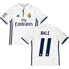 007a83ac0 Gareth Bale Real Madrid adidas Youth 2016 17 Home Player Jersey - White