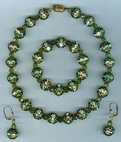 #Fashion jewellery  necklace set  rhinestone and crystal  #N372
