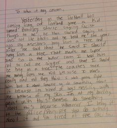 Repost from @shaunking: This is the letter that a 13 year old middle schooler was forced to write after being called a nigger, a rapist, and teased about lynching at his MIDDLE SCHOOL for two years.  Dear York County School Division & Tabb Middle, I'm calling you out on how poorly you've handled this and the enormous burden you've placed on this young student and his family.  http://nydn.us/1iX9NUM