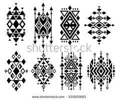 aztec native navajo design elements vector set ron s pins