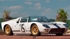 1965 Ford GT Competition Prototype Roadster presented as Lot at Kissimmee, FL Ford Sports Cars, Sport Cars, Race Cars, Ford Gt40, Car Man Cave, Ford Shelby, Bugatti Veyron, Exotic Cars, Modified Cars