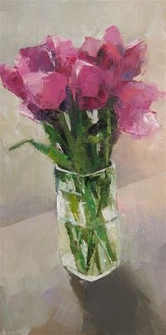 """Tulips"" - Original Fine Art for Sale - © Siu Wong-Camac"