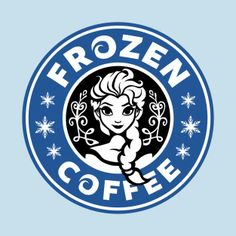 Elsa Frozen Coffee Disney Princess Starbucks Logo with Snowflakes Cutting File in Svg, Eps, Dxf, and Jpeg for Cricut & Silhouette Walt Disney, Frozen Disney, Disney Love, Disney Magic, Disney Art, Elsa Frozen, Sassy Disney, Disney Decals, Disney Clipart