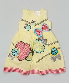Love this Yellow & Red Gingham Heart Babydoll Dress - Toddler & Girls by the Silly Sissy on #zulily! #zulilyfinds