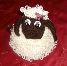 ❥Knit & Crochet Tea Cosies, Mug Hug Snugs and Cuppa Cosies. SHIRLEY SHEEP Tea cosie