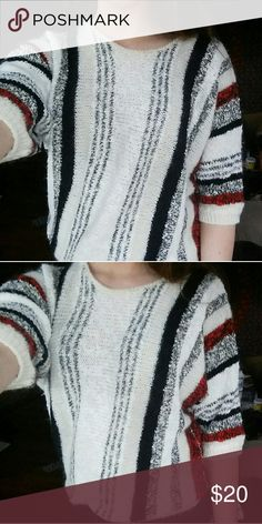 Striped Boho Aztec Sweater A cute statement shirt for an outfit! Fits a small to medium. Loose and comfy. Tops Tunics