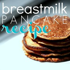 Pancake Recipe - I used formula instead, cinnamon, b.soda, coconut oil, homemade fruit puree i had on hand, 1 egg, and ground oats