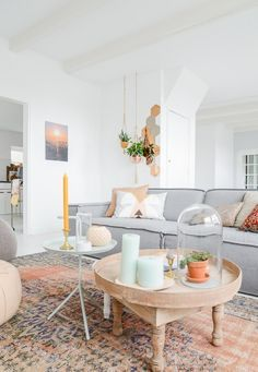 13 Chic & Modern Ways to Decorate with Color | Rust and gray boho decor /stylecaster/
