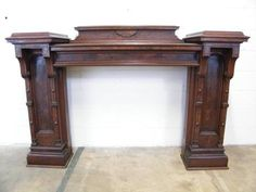 Columbus Architectural Salvage is a resource for old house parts and architectural elements for reuse in today's decorating, renovation, and construction projects. Victorian Fireplace Mantels, Edwardian Fireplace, Fireplace Mantle, Mantles, Architectural Salvage, Architectural Elements, Fireplace Heater, Vintage Antiques, Entryway Tables