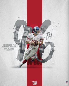 Eli Manning Signed Career Win Metallic Photo w/ 'NYG Career Wins Leader' Insc. Creative Poster Design, Creative Posters, Cool Posters, Sports Posters, Sports Graphic Design, Graphic Design Posters, Graphic Design Inspiration, Powerpoint Design Templates, Photoshop Projects