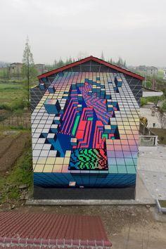Demsky street art Nanxian China