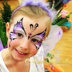 Anna Dazzle - Gorgeous purple butterfly design! :) face painting ideas for kids
