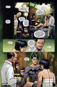 Ra's al Ghul Dick Grayson as Batman, Tim Drake as Red Robin, Barbara Gordon as Batgirl, Nasty Damian Wayne as Robin, Alfred Pennyworth as The Caretaker! Dick Grayson Batman, Superman, Im Batman, Batman Robin, Marvel Dc Comics, Batman Arkham, Robin Superhero, Funny Batman, Batman Cartoon