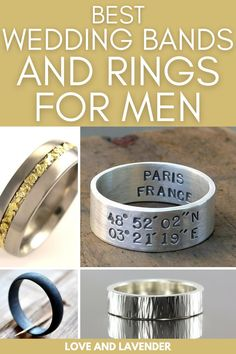 """Each ring is crafted uniquely to fit """"the one"""". Browse through our list of the best wedding bands for men. Don't miss them here! #weddingbands #mensweddingbands #weddingbandsformen Best Mens Wedding Bands, Wedding Men, Diamond Wedding Bands, Bridal Jewelry Sets, Wedding Jewelry, Wedding Rings, Stylish Rings, Classic Gold, Glitz And Glam"""