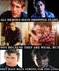 Stay strong like dally and do it for Johnny The Outsiders Quotes, The Outsiders Imagines, The Outsiders 1983, The Outsiders Greasers, 80s Movies, Good Movies, I Movie, Die Outsider, Dallas Winston