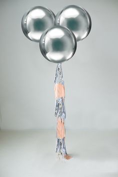 Giant Silver or Gold ORBZ Balloon 16 Big 16 inch by PomJoyFun
