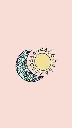 Fondo de pantalla del sol y la Luna para iPhone. Hozanek Holística