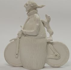 ciclista con bassotto