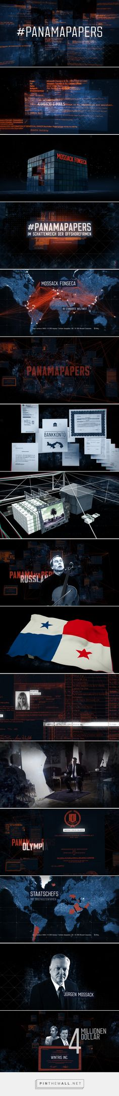 #PanamaPapers: Graphics and Animations on Behance - created via https://pinthemall.net