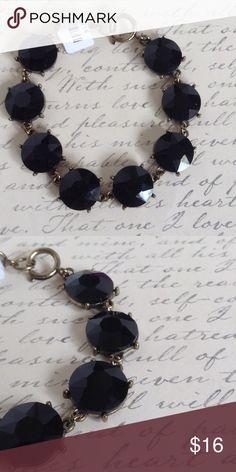 "Black rhinestone bracelet ❤New 🌸7"" lengt 🌼0.5"" width 🎀Spring ring closure Jewelry Bracelets"