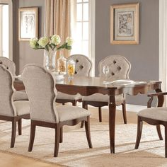 Acme Furniture Versailles Dining Side Chair Cherry Set